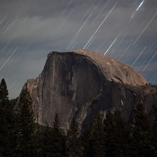 Half Dome Star Trails